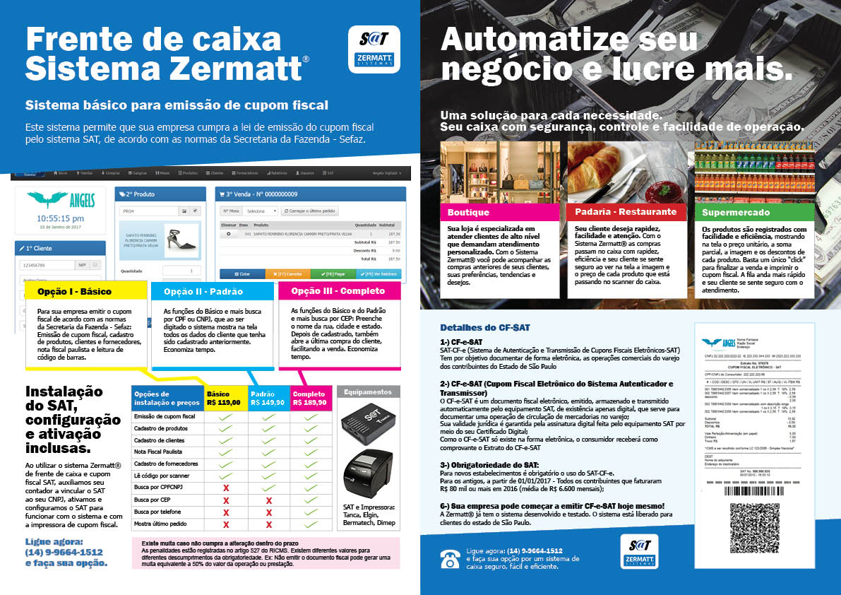 Folder para Zermatt Sistemas - Osvaldo Almeida Designer gráfico freelancer