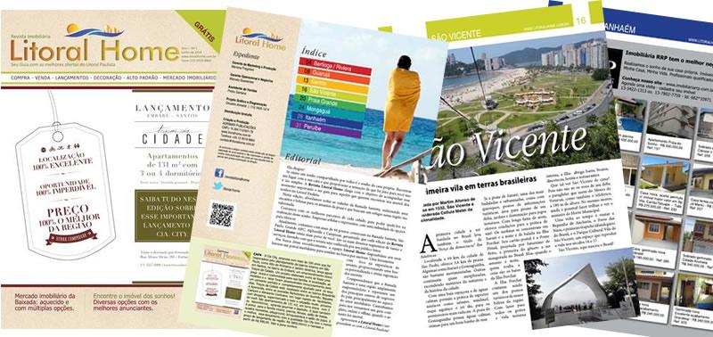Revista imobiliária Litoral Home | Osvaldo Almeida Designer e Diagramador.