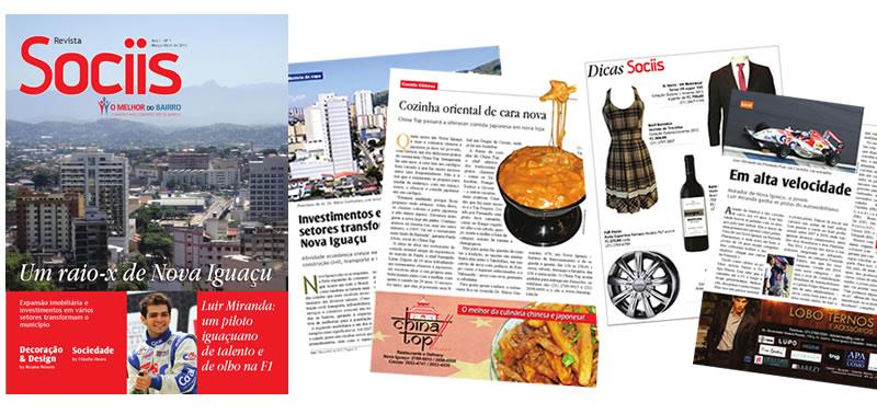 Revista Sociis - Nova Iguaçu - SP | Osvaldo Almeida Designer e Diagramador.