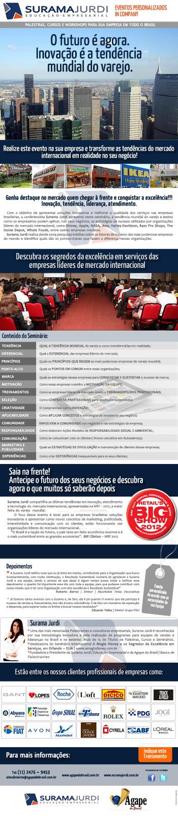 E-mail marketing para Surama Jurdi criado por Osvaldo Almeida Designer gráfico freelancer