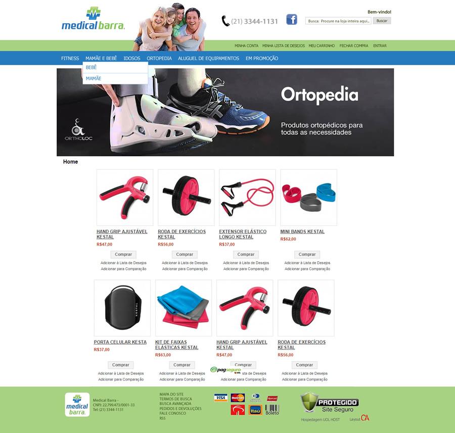 Layout para loja Magento Uol Host - Medical Barra - Rio de Janeiro - RJ