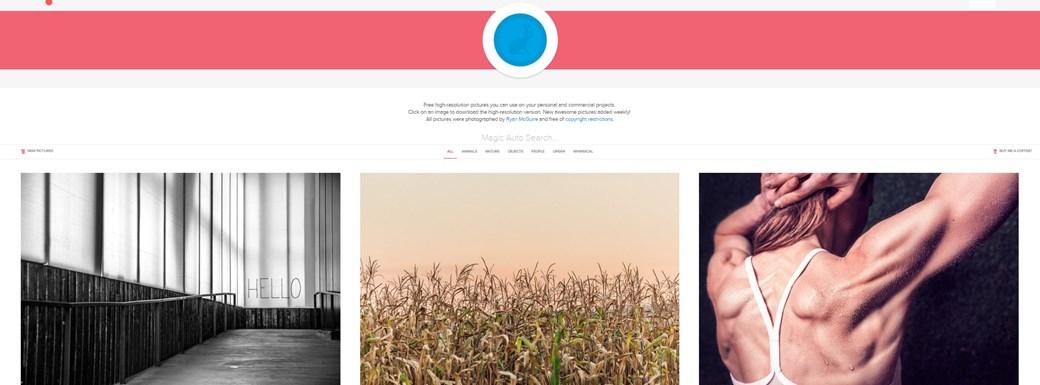 Gratisography traz fotografias de alta qualidade.