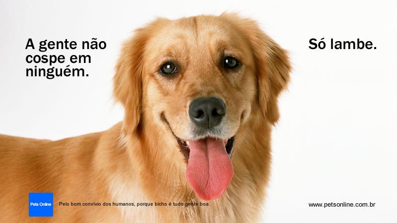 Anúncio digital para portal Pets Online.