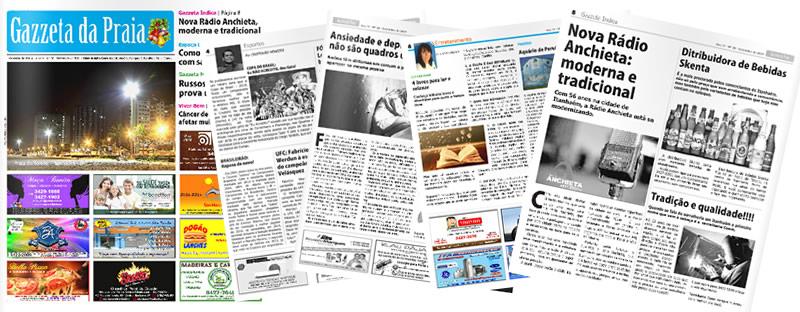 Gazzeta da Praia - Itanhaém - SP | Osvaldo Almeida Designer e Diagramador.