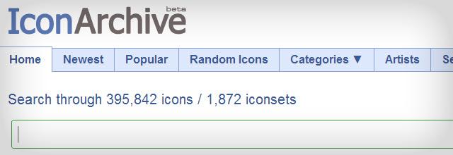 IconArchive tem mais de 500.000 ícones para os desenvolvedores web , usuários finais e artistas gráficos