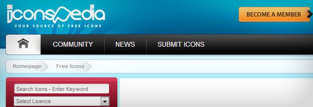 Na Icons Pedia usuários criam e disponibilizam ícones para uso.