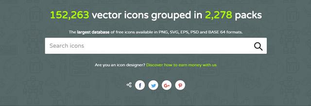 Flaticon é um dos maiores sites de busca de ícones grátis do mundo.