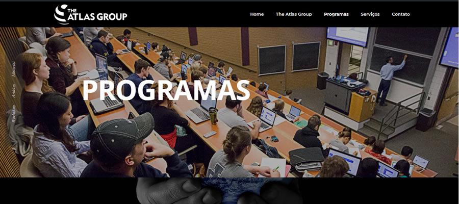Desenvolvimento do site The Atlas Group