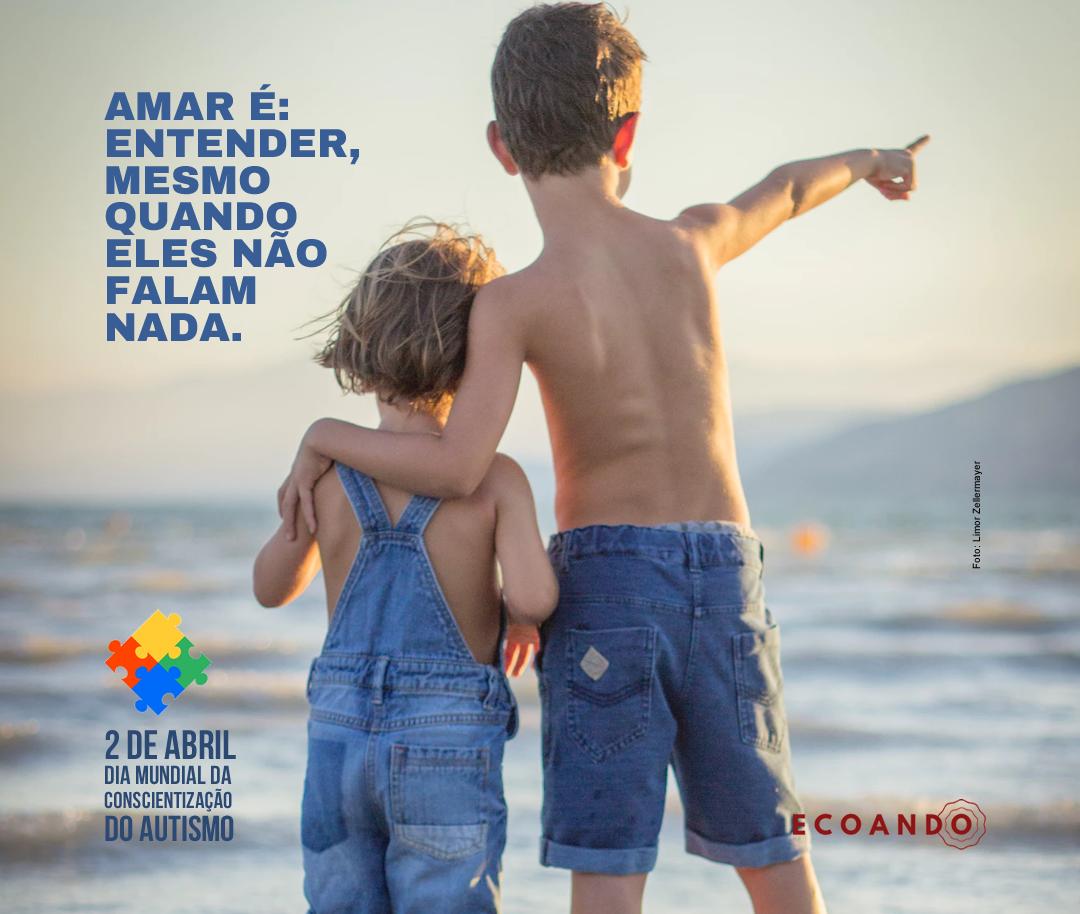 Flyer comemorativo Dia do Autismo para Instagram e Facebook para Ecoando