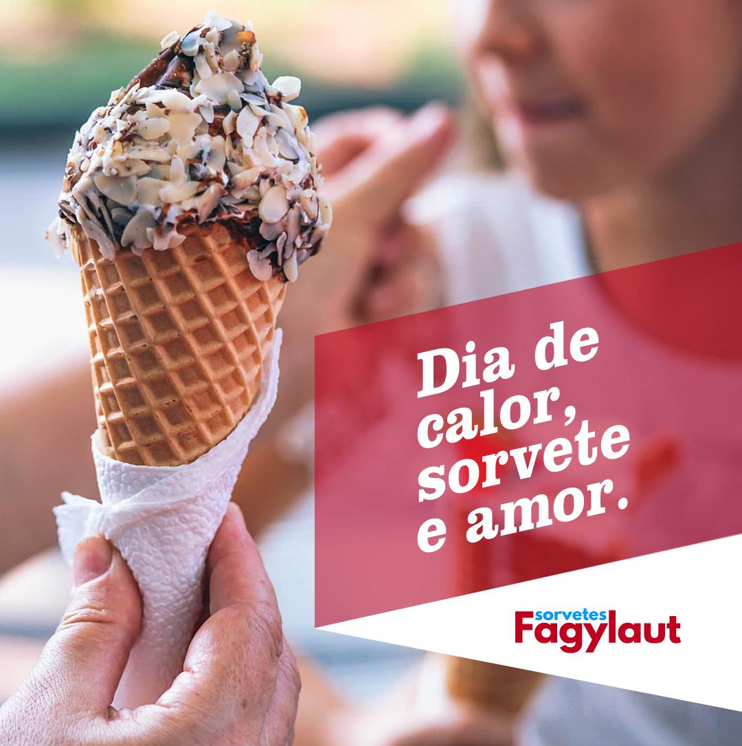 Imagem institucional para Instagram e Facebook para Sorvetes Fagylaut