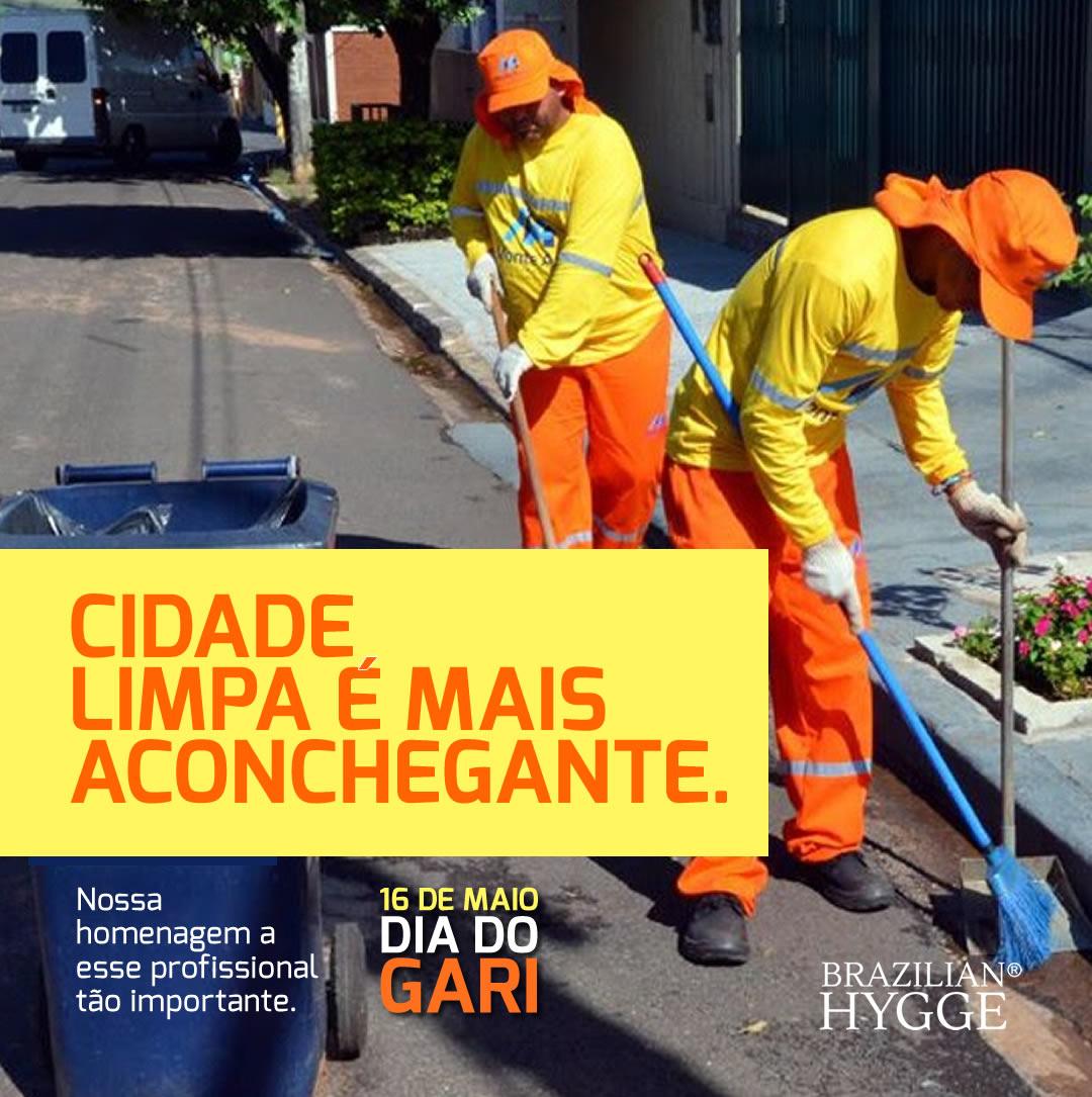 Imagem comemorativa do Dia do Gari para Brazilian Hygge para Instagram e Facebook