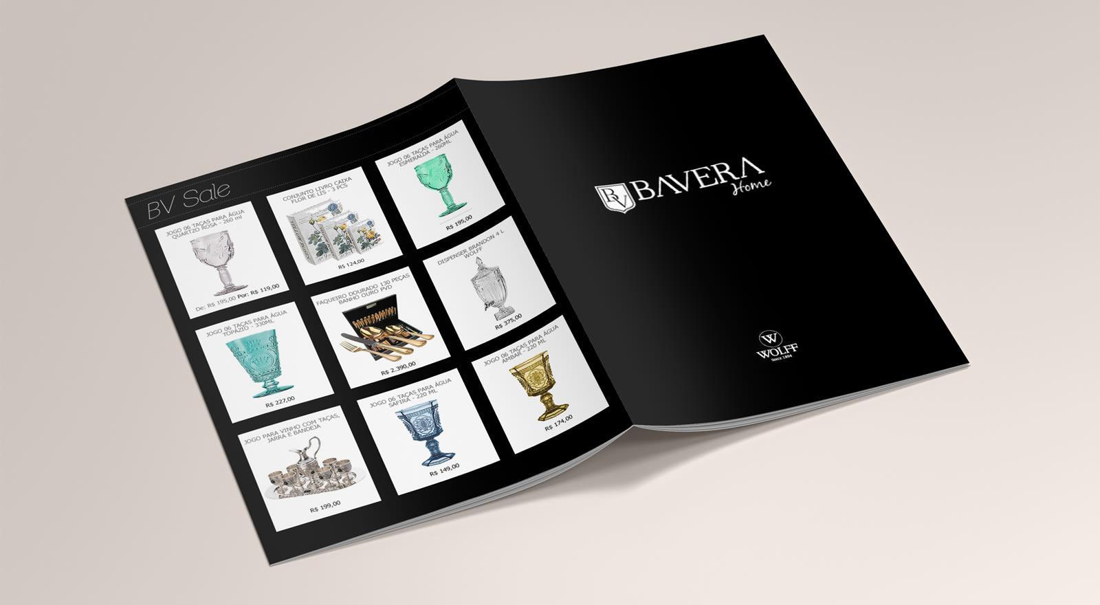 Catálogo para loja virtual Bavera Home
