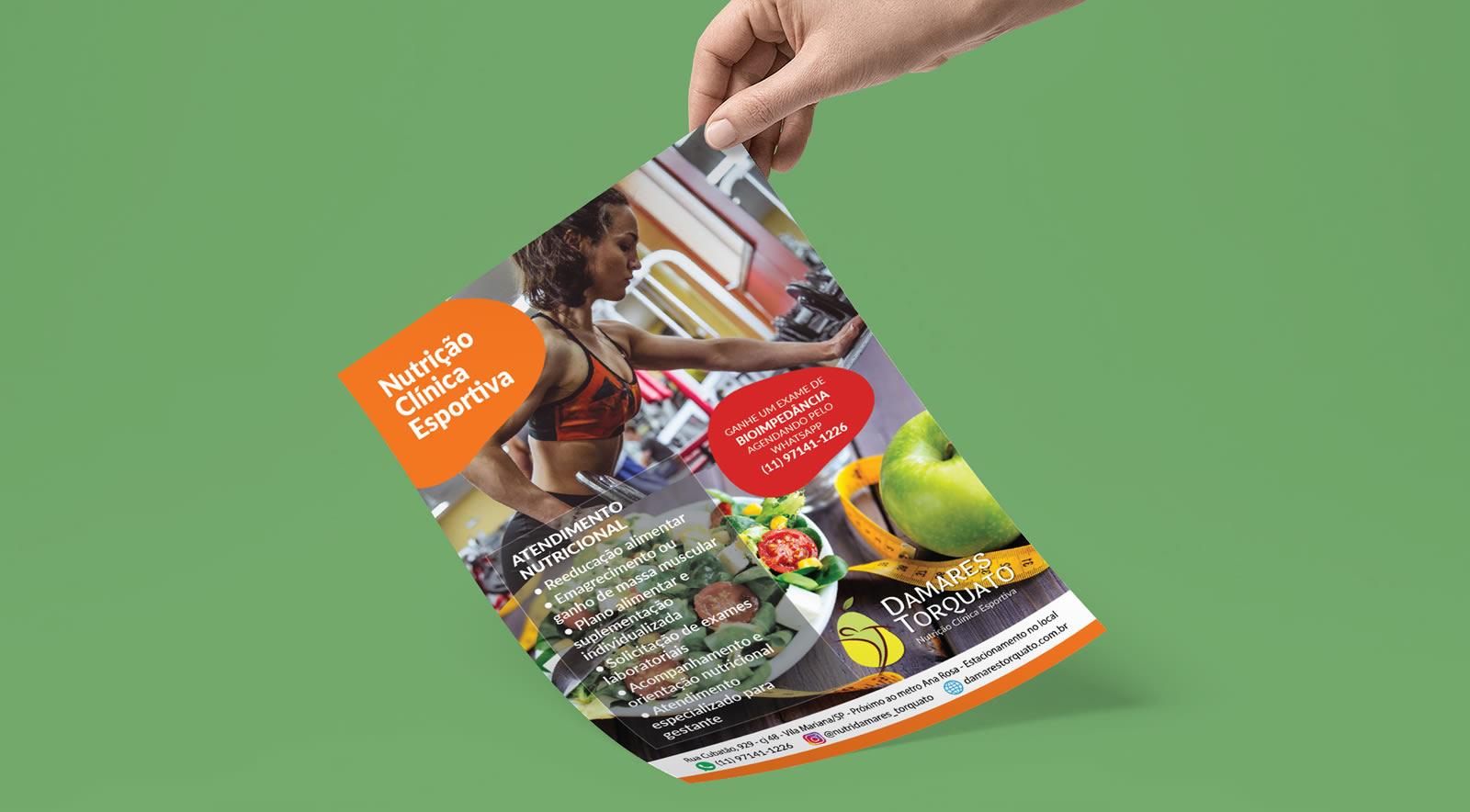 Flyer para nutricionista Damares Torquato - Osvaldo Almeida designer freelancer