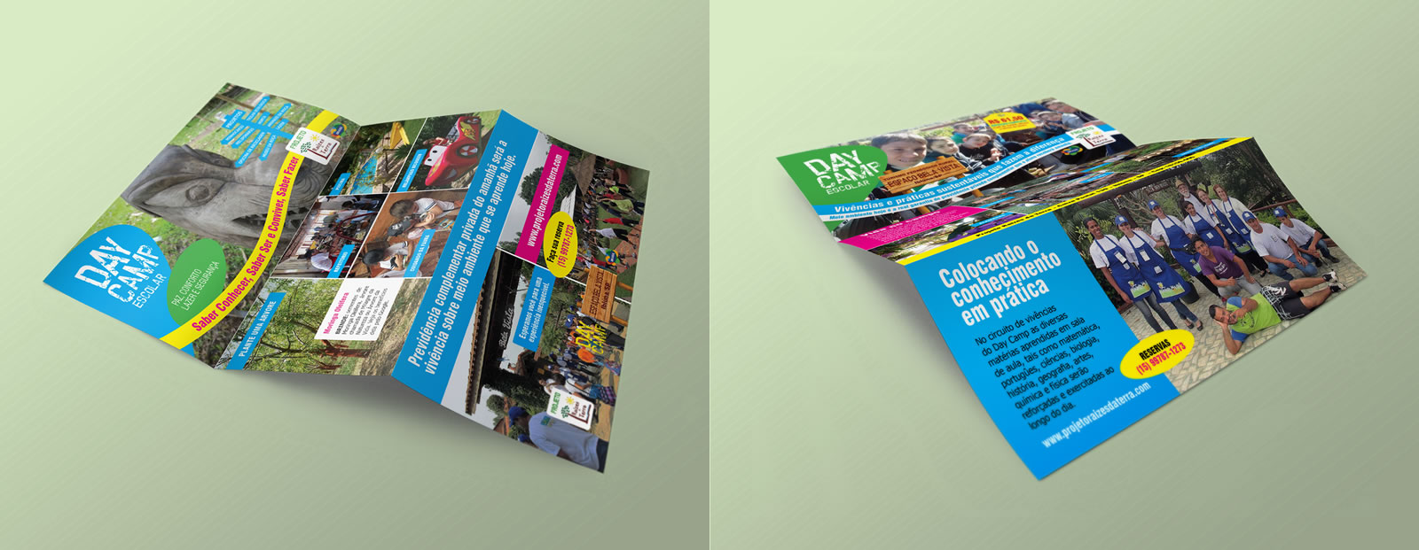 Folder 2 dobras para Projeto Raízes da Terra - Designer Osvaldo Almeida