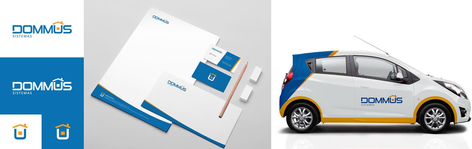 Projetos mais recentes Criação de logotipo e identidade visual para Dommus Sistemas, empresa mineira especializada em soluções e sistemas de gestão para construtoras e incorporadoras.