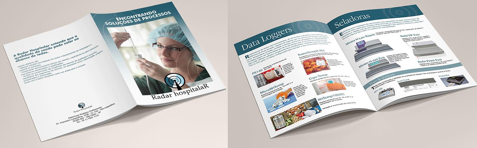 Catálogo para empresa Radar Hospitalar